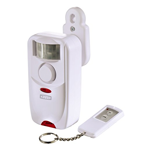 Xavax Alarmanlage mit Bewegungsmelder (inkl. Fernbedienung, extra lautes Alarmsignal (118 dB), ideal als Ladenklingel)