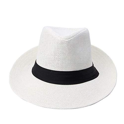 Gldgle Mode Sommer Casual Unisex Beach Große Krempe Jazz Sonnenhut Panamahut Papierstroh Frauen Männer Mütze Mit Schwarzem Band Hut Panama Mode Sonnenhüte Sonnenhut
