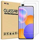 WFTE [2-Pack] Protector de Pantalla para Huawei Y9A,9H Dureza,Huellas Dactilares Libre,Sin Burbujas,Cristal Templado Huawei Y9A