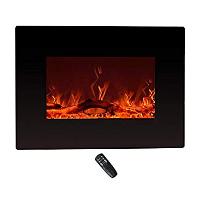 C-Hopetree Electric Fireplace, Wall Mounted or Freestanding Portable Room Heater, 900/1800w with Remote, 55cm Wide