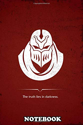 Notebook: Minimal Poster Design Of Zed From League Of Legends Vid , Journal for Writing, College Ruled Size 6