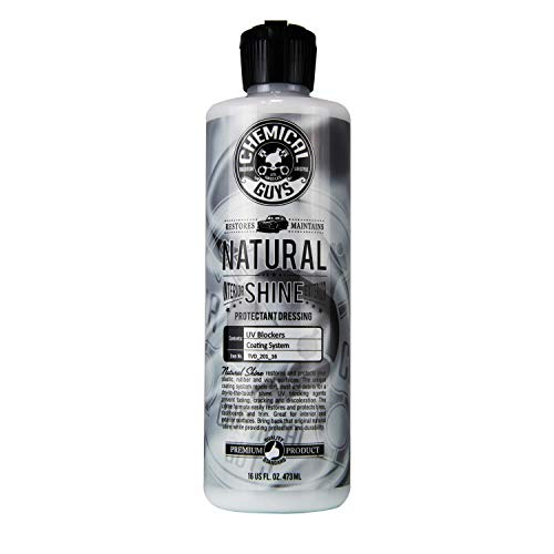 Chemical Guys TVD_201_16 - Natural Shine, Satin Shine Dressing for Plastic, Rubber and Vinyl (16 Fl. Oz (Single Unit))