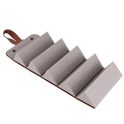 Mimitool Organizador de Gafas de Sol, Caja de Almacenamiento de Gafas de Moda de Gran Capacidad Duradera, Simple para Relojes de joyería (marrón) (Color : Brown)