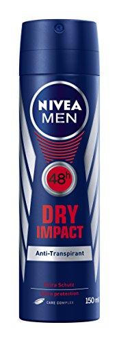 Nivea Men Deo Dry Impact Plus Antitranspirant Spray, 4er Pack (4 x 150 ml)