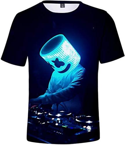 Camiseta para Niños 3D Impresión Gráfica DJ Música Electrónica Cool Hip Hop