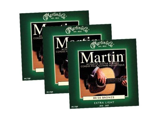 3 x JEUX DE CORDE ACOUSTIQUE MARTIN EXTRA LIGHT 10-47