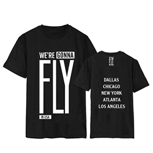 GOT7 Fly In USA Concert T-Shirt Mark Bambam Yugyeom Jackson Tee Shirt XXL Black