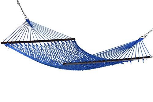 Caribbean Rope Hammock - 55 Inch - Soft-Spun Polyester (Purple)