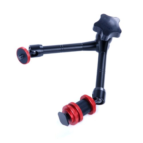 Movo Photo MR11 Professional Grade Articulating Magic Arm with Interchangeable Screw, Shoe Attachments and 360° Ball Joints - 11-Inch