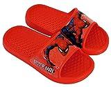 Chanclas Spiderman Playa o Piscina - Flip-Flop Spiderman para niños (Rojo, Numeric_24)