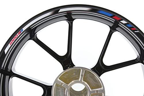 IMPRESSIATA Adhésifs et Autocollants pour Kits complets pour Roues de 17 Pouces compatibles avec la BMW S1000RR SpecialGP Bleu, Blanc, Rouge