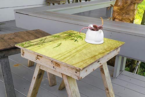 Wallario Aufkleber Selbstklebende Garten-Tisch-Decke - Antiker Bambus in 100 x 100 cm