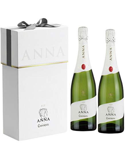 Codorníu | Estuche regalo Cava Anna de Codorníu Brut Nature | 2 botellas de 75 cl con estuche de lujo ideal para regalar