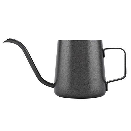 Hervidor de café derramado, Caño delgado de cuello de cisne de 4 mm de acero inoxidable de 350 ml y mango de agarre para té, cafetera, tetera, taza de café, olla,(carencia)