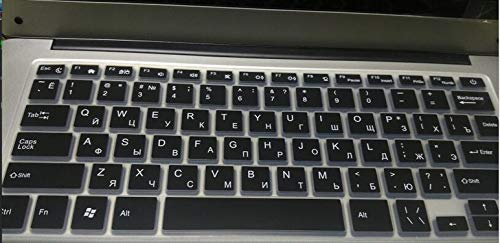Blank Cover kompatibel für YEPO Laptop blanko, Tastaturlayout, kompatibel mit YEPO Laptop Schwarz
