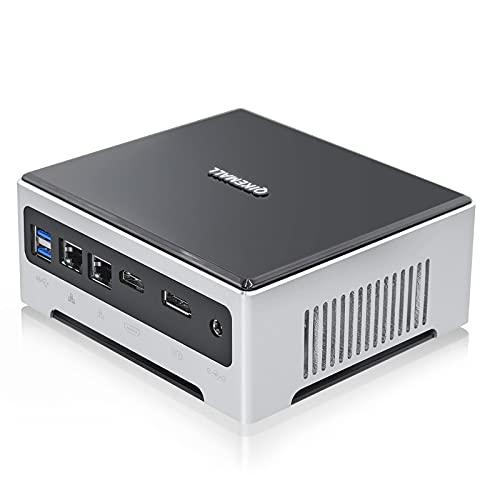 Mini computadora Windows 10, Core i7-10750H Mini computadora de Escritorio, 16GB DDR4 RAM 512GB M.2 NVME SSD, Mini PC Desktop PC 2 LAN, USB3.0 HDMI y DP 4K, WiFi Bluetooth 4.2 QIKEMALL