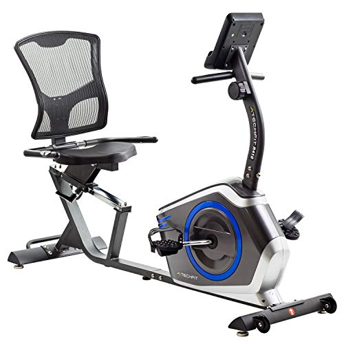 TechFit R410 Cyclette Orizzontale, Recumbent Ergometro Ideale Per Allenamento Di Recupero, Con Sella Regolabile, Sensori A Impulsi E Monitor LCD