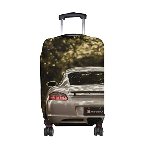 Cayman S Car Pattern Print Travel Luggage Protector Baggage Suitcase Cover Fits 18-21 Inch Luggage LGC-112