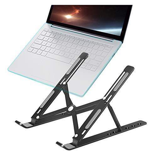 Soporte para laptop Portátil portátil soporte de aluminio plegable For la base de la tableta ajustable del soporte del soporte del soporte de la computadora del libro de la computadora para PC Antides