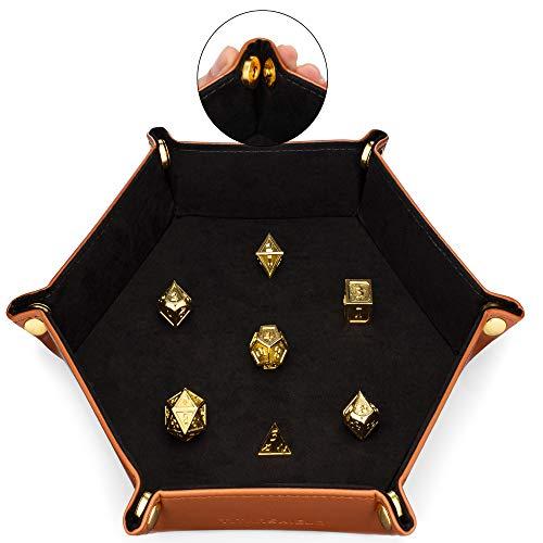 TITANSHIELD, vassoio magnetico per dadi per rotolare, adatto per dadi in metallo, RPG, DND, giochi da tavolo