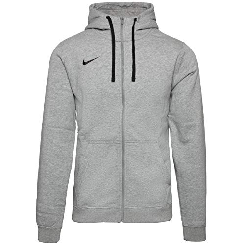 Nike Herren Hoodie FZ Fleece TM Club19, Grau (Dk Grey Heather/063), 2XL