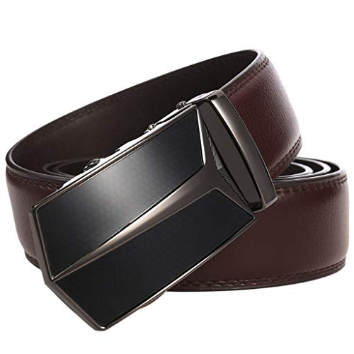 GmgodCinturón, Cinturón de cuero deslizante con hebilla automática para hombre - Multi color - talla única
