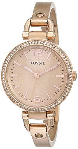 Fossil Damen Analog Quarz Uhr mit Edelstahl Armband ES3226