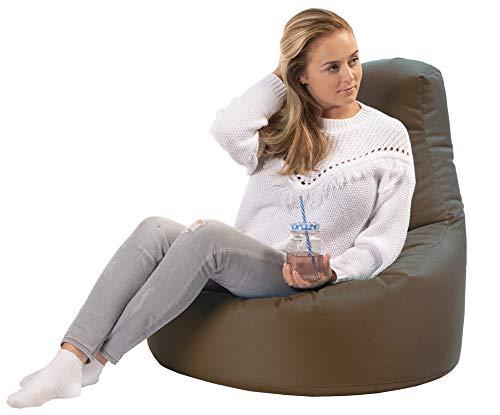 sunnypillow Gaming Sitzsack XXL mit Styropor Füllung Outdoor & Indoor für Kinder & Erwachsene Sitzsäcke Sitzkissen Bodenkissen viele Farben zur Auswahl Braun