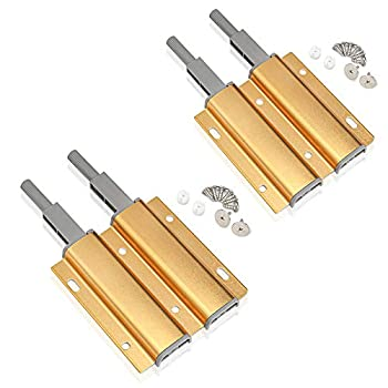 Magnetic Push Latches for Cabinet Latch Heavy Duty 2 Pack Gold Push to Open Latches Kitchen Spring Latch for Hidden Door Latch Drawer Closure Push Catch Pop Out Cabinet Hardware