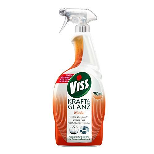 Viss Reinigungsspray Kraft & Glanz Küche (für strahlende Sauberkeit 100% kraftvoll gegen Fett), 6er Pack (6 x 750 ml)