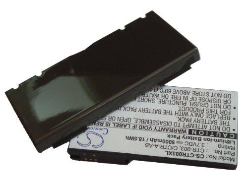 vhbw Batería duración EXTENDIDA Li-Ion 5Ah compatible con NINTENDO 3DS, N3DS, CTR-001, MIN-CTR-001 reemplaza CTR-003, C/CTR-A-AB incluye tapa trasera