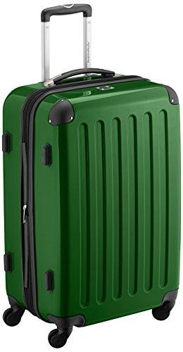 HAUPTSTADTKOFFER - Alex - Hartschalen-Koffer Koffer Trolley Rollkoffer Reisekoffer Erweiterbar, 4 Rollen, 65 cm, 74 Liter, Grün