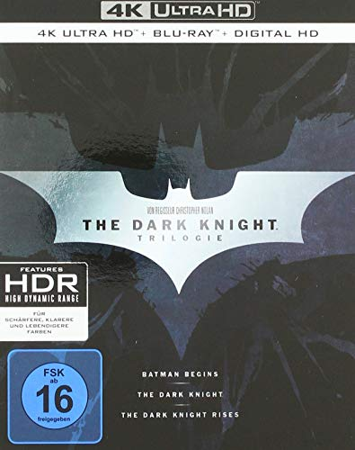 The Dark Knight Trilogy (4K Ultra HD + 2D-Blu-ray) (2-Disc Version) (exklusiv bei Amazon.de) [Limited Edition]