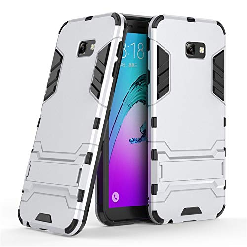 Chengxin para Samsung Galaxy J4 J6 Plus J8 2018, funda de armadura anticaídas a prueba de golpes para Samsung Galaxy J2 J3 J5 J7 2017 (color: plata, material: para J4 Plus 2018)