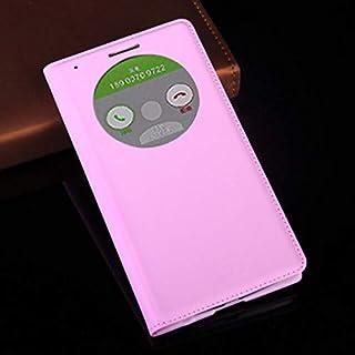 جرابات فليب - جراب جلدي فاخر لهواتف G3 Optimus D855 D850 D 855 D855 D856 LGG3 G 3 D857 D859 F400 F400k Auto Sleep (Pink Fo...