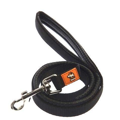 Canny Hundeleine, schwarz, 25 mm, mittelgroß/groß