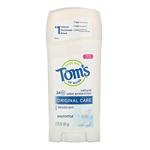 Tom's of Maine Natural Deodorant Stick Unscented 2.25 oz (Pack of 3)