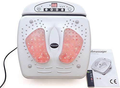 Appareil de massage infrarouge pour les pieds avec télécommande et 15 niveaux de massage