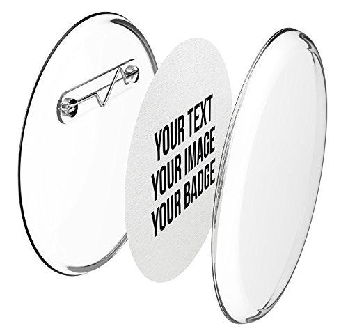 Buttons 56mm selber machen ohne Buttonmaschine (10 Stück) – Ansteckbuttons Set mit Nadel-Pins und A4-Buttonpapier