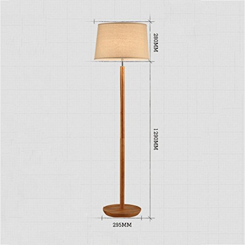 Good thing Lampadaire Den Living Room Lampadaire Chambre à coucher Lampe de chevet Creative Wooden Simple Nordic
