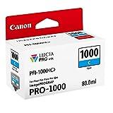 Canon PFI-1000 C Cartucho de tinta original Cian para Impresora Fotográfica PRO-1000