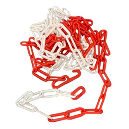 5m Absperrkette rot-weiß, Kunststoffkette, Parkplatzsperre-Kette, erweiterbar - für Baustelle-Absperrung