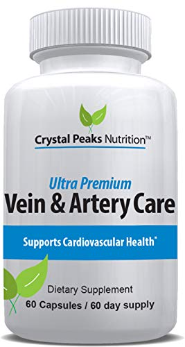 Vein & Artery Cleaning Supplement for Circulation and Cardiovascular Health. Remove Plaque & Cleanse Your Arteries for a Healthy Heart | All-Natural 60 Day Supply