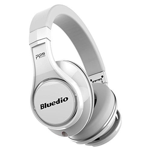 Bluedio U (UFO) Cuffie Bluetooth Auricolari Bluetooth Cuffie Wireless&Wired Over-Ear con Microfono (Bianco)
