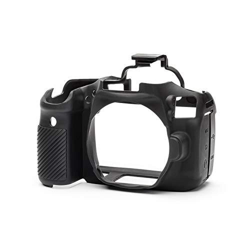 Walimex pro easyCover - Carcasa de silicona para cámara Canon EOS 90D (protección contra golpes, arañazos, suciedad, salpicaduras de agua, fácil de ajustar, antideslizante, manejo cómodo), color negro