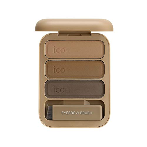 Onkessy Makeup Eyebrow Dye Powder Palette Color Lasting Non - Dye Waterproof Anti-Sweat Make Up Paint Cosmetic with Brush