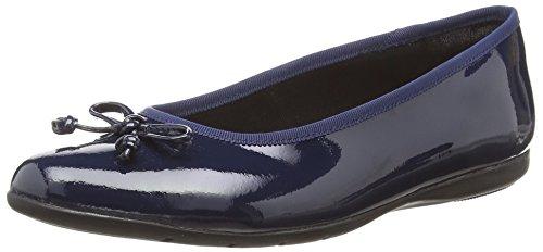 Clarks Jesse Shine, Mädchen Ballerinas, Blau (Navy Leather), 39 EU (5.5 UK)