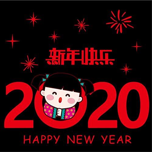 Glazen sticker 2020 Silvester kerstdecoratie muursticker raamsticker deursticker 09