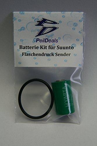 PeilDeals - Kit di batterie per la stampa di bottiglie, trasmettitore e trasmettitore di pressione di Suunto D6i D4i D9tx D9 Vyper Air Helo2