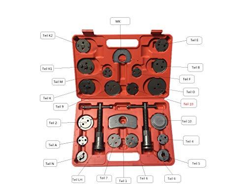 KFZTEILESCHNELLVERSAND24 22 TLG Bremskolbenrücksteller Satz Bremskolben Rücksteller Spindel KFZ Werkzeug